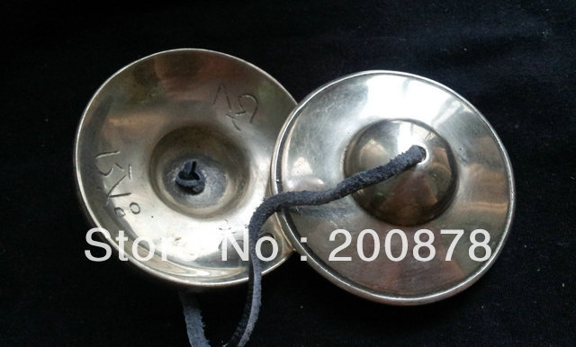 TBC867  Tibetan White Metal Copper Buddhist OM Cymbal Bell,75mm, Wholesale Tibetan Buddhist ThingsTBC867  Tibetan White Metal Copper Buddhist OM Cymbal Bell,75mm, Wholesale Tibetan Buddhist Things