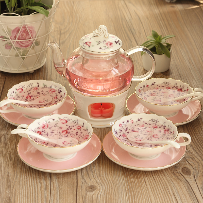 New Arrival Creative Folwer Tea Set Glass Ceramic Bubble Tea Pot Tea Cup Cooking Fruit British Afternoon Tea Gift Free ShippingNew Arrival Creative Folwer Tea Set Glass Ceramic Bubble Tea Pot Tea Cup Cooking Fruit British Afternoon Tea Gift Free Shipping