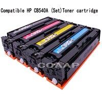 متوافق cb540a cb540 540a 540 cb541a cb542a cb543a 125A لون خرطوشة الحبر ل hp laserjet cp1215 cp1515n cp1518ni cm1312