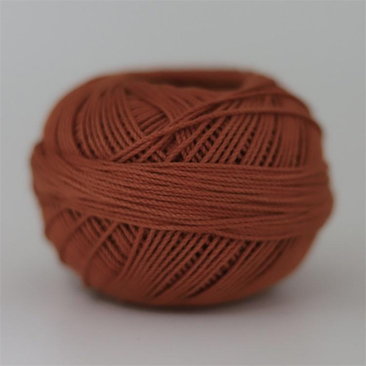 Размер 3 хлопковая Жемчужная Нить египетская длинная Штапельная хлопковая пряжа газированная двойная мерсеризованная 6 нитей плетение 50 грамм на шарик - Цвет: 694