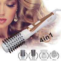 ENZO Electric Rotating Hair Dryer Brush Professional 4 in 1 Multifunctional Hair Dryer Comb Curling Hair Straightener Hair