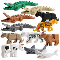 Animal Building Blocks Kids Children Toys Gift Tiger Crocodile Shark Dolphin Giraffe Figures Bricks Blocks Toys Juguetes Kids