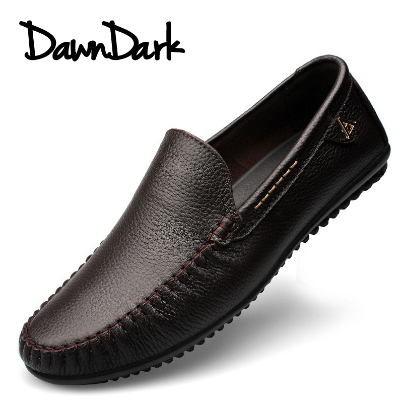 Casual Genuine Leather Men's Shoes Slip on Design Driving Men Flat Footwear Handmade Brand Male Fashion Boat Loafers Big Size big size 45 46 us 6 12 genuine leather tie slip 0n men woven loafers fashion casual boat shoes driving shoes