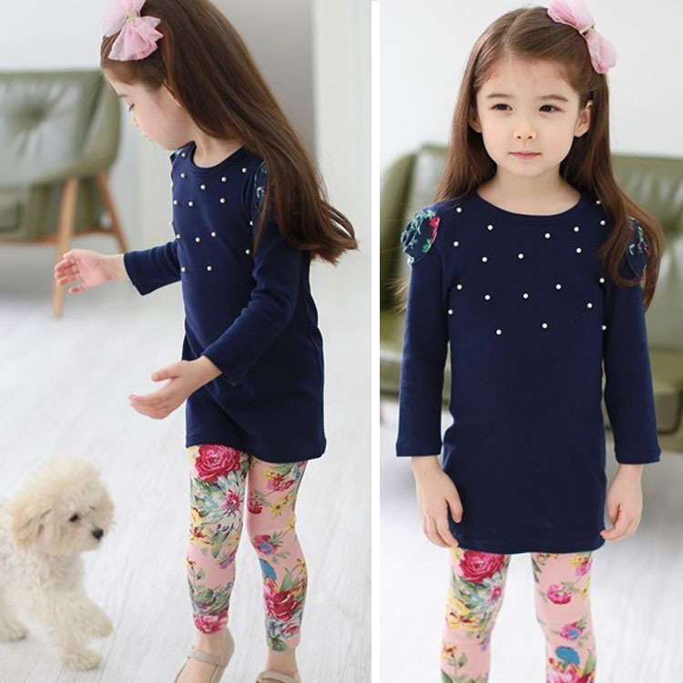 Little Girls Kids 2 Pieces Long Sleeve Top Pants Leggings Clothes Set  Outfits Clothing Clothing Sets