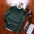 2016 novo adicionar mais suéter de lã marca camisola Eden park alta qualidade térmica dos homens camisola TAMANHO: M-4 xl