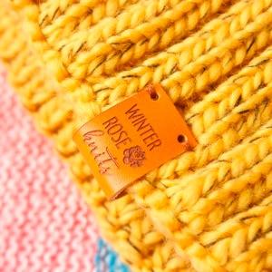 Image 2 - Custom Labels,Personalized Tags, Tags,  With Love, Leather Tags, personalized tags, knit labels, Custom Name,  Handmade (PB1502)