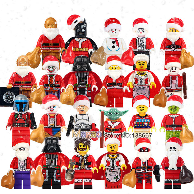 Harley Quinn Christmas.Us 29 9 8 Off Aliexpress Com Buy 50pcs Lot Merry Christmas Granny C3po Boy Joker Yoda Harley Quinn Christmas Deadpool Building Blocks Bricks Kids