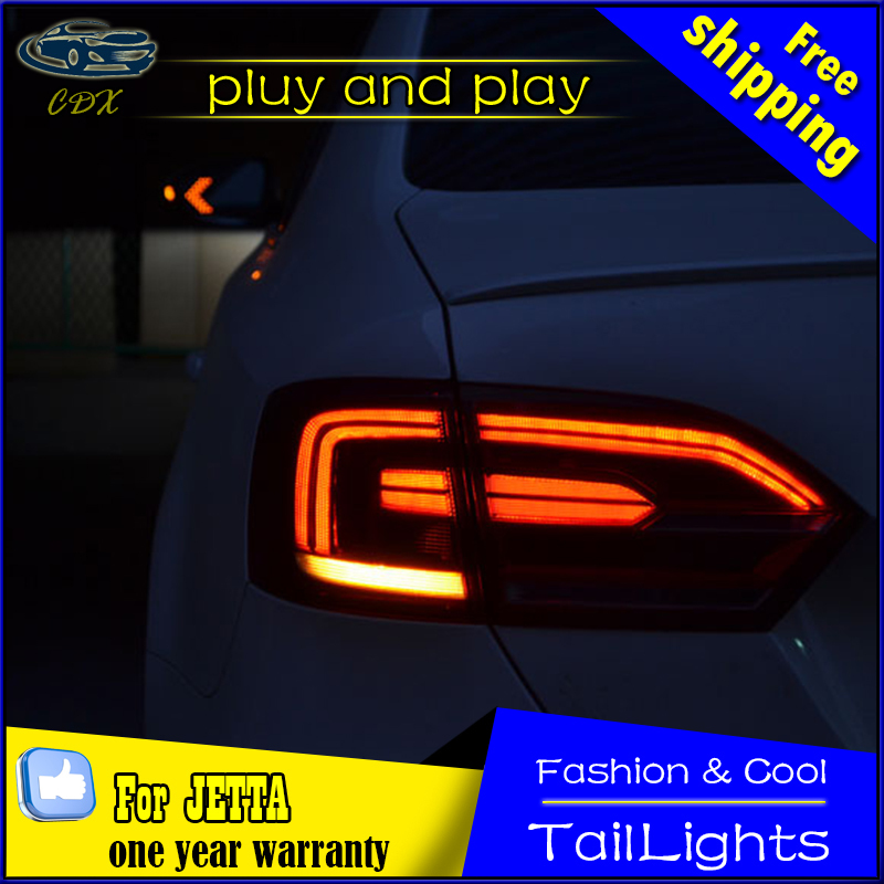 Car Styling Tail Lamp for VW Jetta Tail Lights 2011-2014 Jetta MK6 LED Tail Light Rear Lamp LED DRL+Brake+Park+Signal Stop Lamp