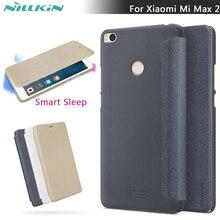 Для Сяо Mi Max 2 Nillkin Sparkle Смарт сна кожа флип чехол для сяо Mi Max 2 6.44 дюймов смарт Услуга Up случаи