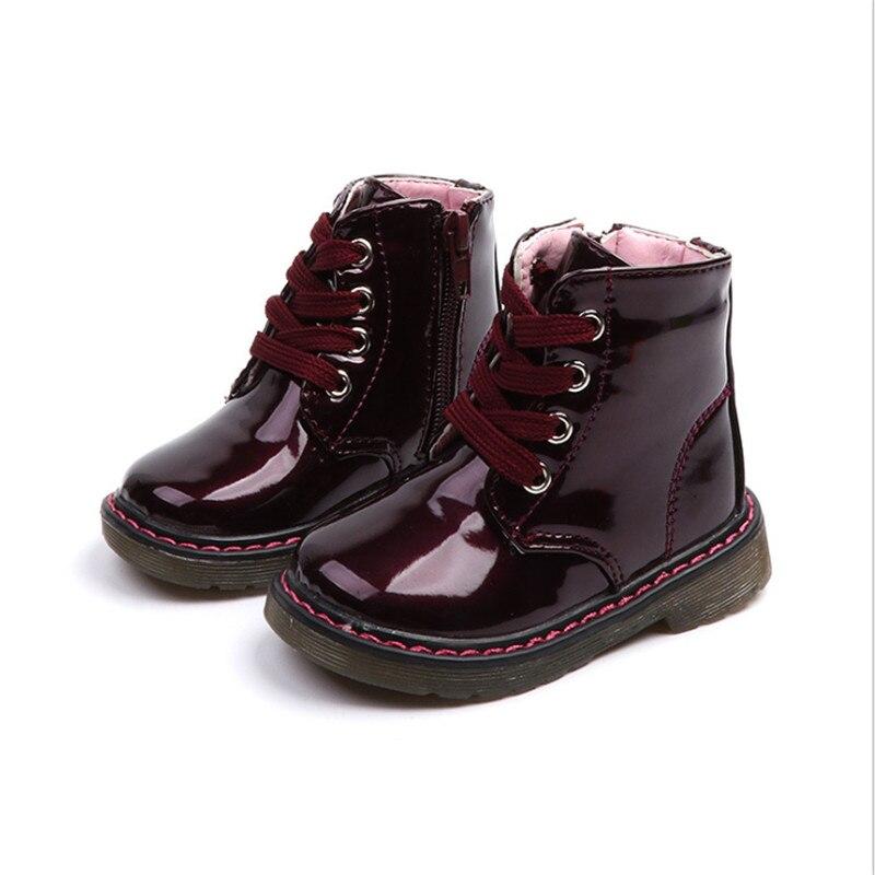 Новинка; Детская обувь из искусственной кожи; Водонепроницаемые ботинки Martin; Брендовые резиновые ботинки для мальчиков и девочек; Модные кроссовки; Европейские размеры 21 30 Сапоги    АлиЭкспресс