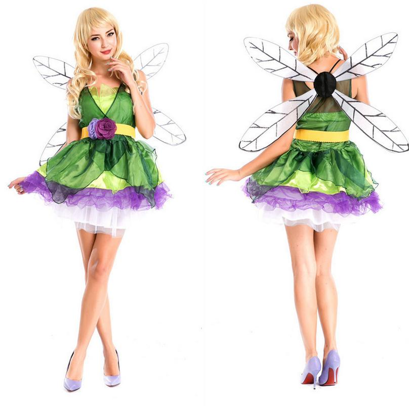 <font><b>Sexy</b></font> Lovely Christmas Costume <font><b>Halloween</b></font> <font><b>Sexy</b></font> Forest Green Elf Cosplay Party Deguisement <font><b>Disfraces</b></font> Adultos Mujer <font><b>Sexy</b></font> WL133 image
