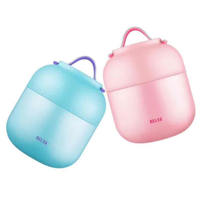 700ml/500ML Cute Thermos Food container Insulated Thermal Lunch Box Thermos Vacuum food for soup food Thermos Stew vacuum flask ...