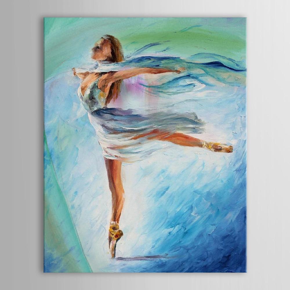 Unframed Oil Painting Handmade Hand Painted Modern Abstract Beautiful Sexy Ballerina Girl Dance Canvas Painting Canvas in Painting Calligraphy from Home Garden
