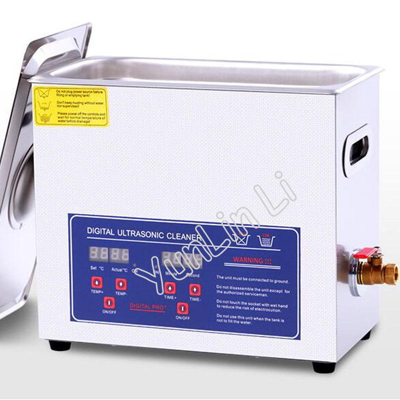 6.5L Digital Ultrasonic Cleaner 110V/220V 180W New Design Watches Cleaning Machine 40000Hz Jewelry Washer PS-30A jeken ps 30a 180w 6 5l digital ultrasonic cleaner with free cleaning basket digital timer lcd display
