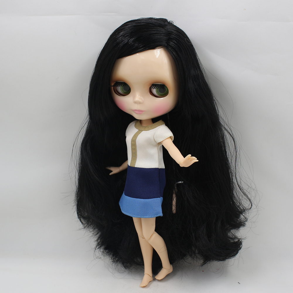 Nude Blyth Doll Black long hair with Joint body Neo 1/6 bjd blyth dolls for sale 12 blyth nude doll k 180 black hair bjd blyth doll for sale