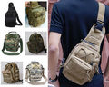 Casual Men Zip Chest  Packs Trekking Bag Jungle Travel Camouflage Military Nylon One Shoulder Backpack  Hot Sale