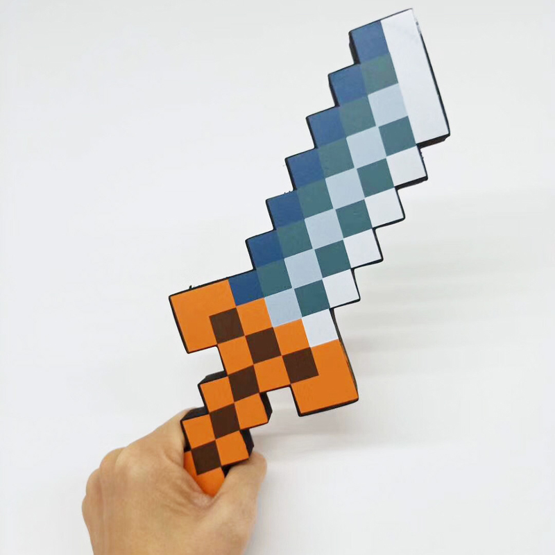 10pcs/lot 25cm Minecraft Foam Weapons Sword Knife Dagger Toys Minecraft Eva Model Action Figure Toy For Kids Children Gifts Toys & Hobbies