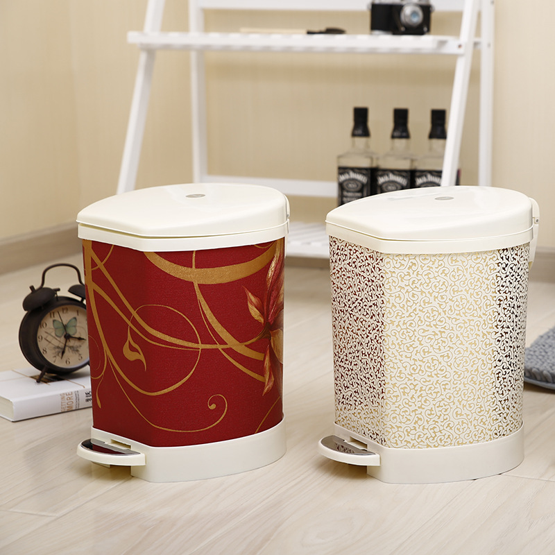 Compare prices on pedal waste bin online shopping buy low for Covered bathroom wastebasket