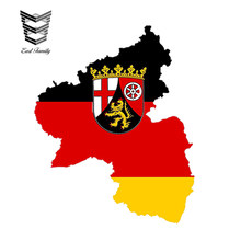 Earlfamily 13 Cm X 10 Cm Auto Styling Rhineland Palatinate Kaart Vlag Auto Sticker Silhouet Tablet Waterdichte Windows Accessoires(China)