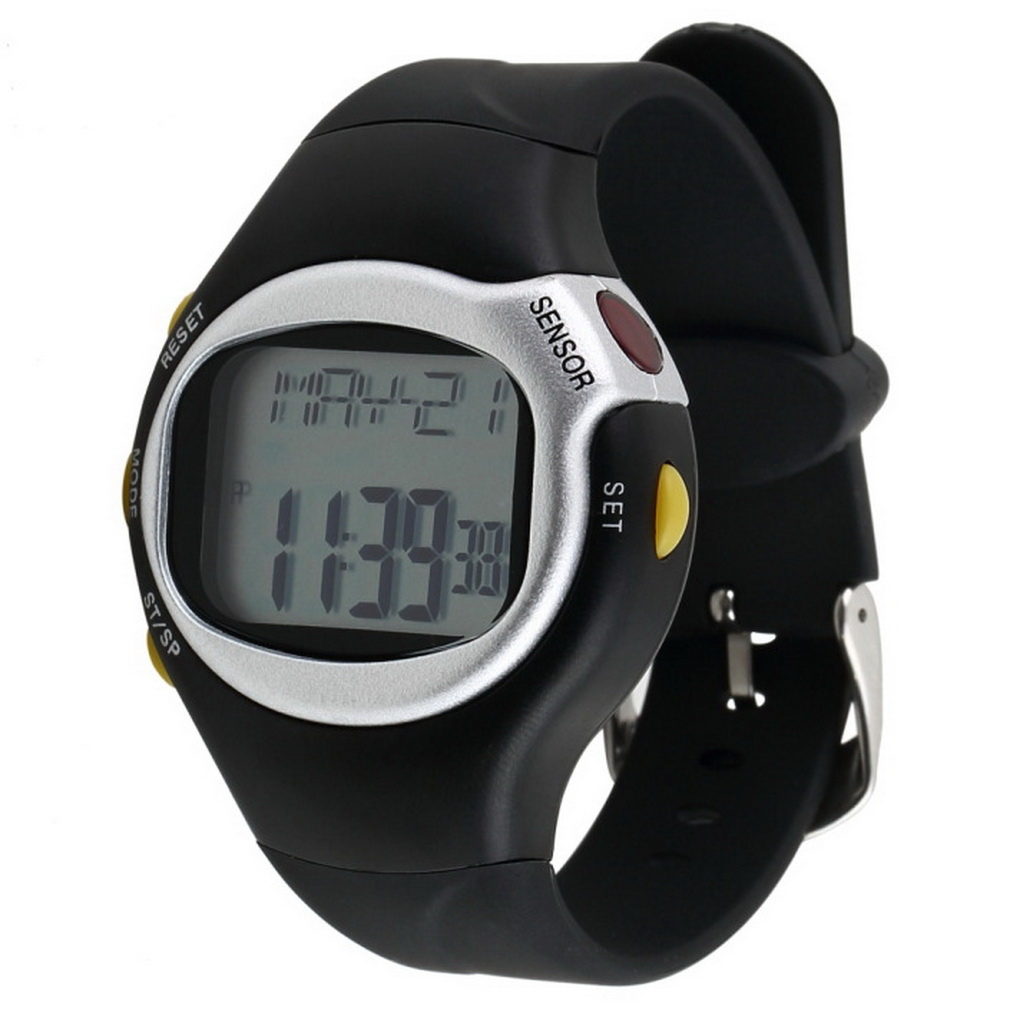 OUTAD Monitor Watch Touch-Sensor Pulse-Heart-Rate Black-Color Counter 6-In-1 Exercise
