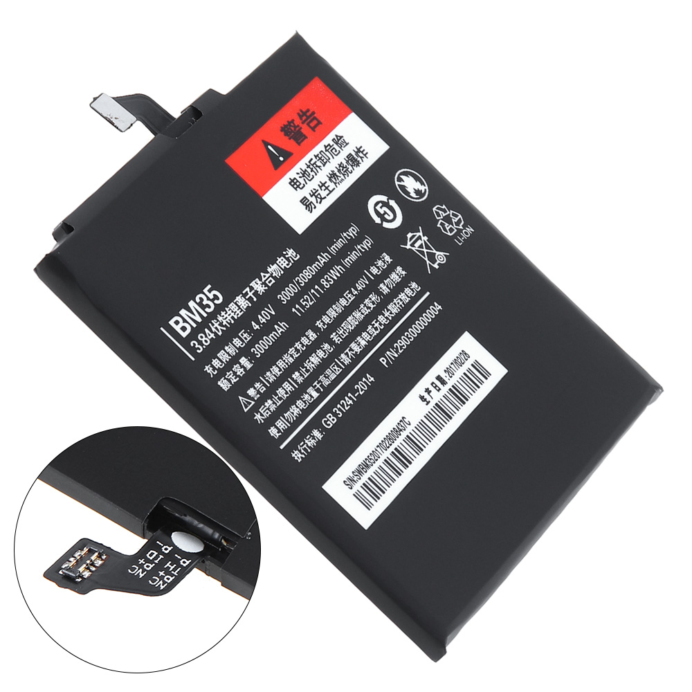 Phone Battery BM35 For Xiaomi Mi 4C Mi4c 3000mAh Replacement Lithium Polymer Battery Mobile Phone Bateria
