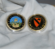 Sample order,US Army 1st CAVALRY DIVISION VIETNAM The First Team Challenge Coin hoyle t the challenge