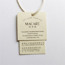 Factory Price High - End Custom 700G Thickness Vanilla Paper Tag