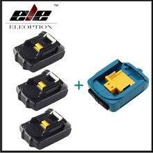 3x ELEOPTION 18 В 2000 мАч литий-ионная Батарея для Makita 194205-3 194309-1 bl1815 + USB мощность Зарядное устройство адаптер для Makita