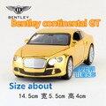 1:32/Simulación Diecast modelo de juguete coche/Bentley continental GT/han de luces y música/para niños regalos o colección/Tire Hacia atrás