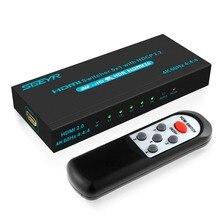 5 Port HDMI Splitter 5X1 2.0 Switch Hub Box 4K@60Hz HDR 4:4:4 HDCP2.2 18Gbps for HDTV Xbox 360 PS4