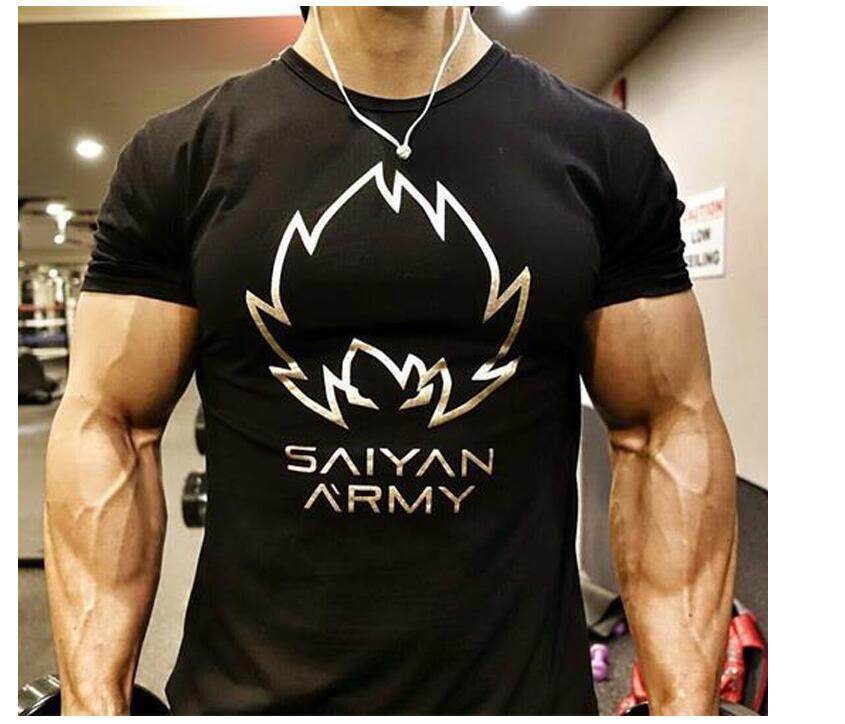 New Clothing Fashion T Shirt Men Cotton Breathable Mens Short Sleeve Fitness t-shirt Gyms Tee Tight Casual Summer Top 24