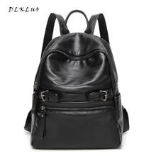Dlkluo 2017 новое поступление натуральная кожа женщины рюкзак из мягкой овчины водонепроницаемые сумки для девочек-подростков дамы Школьная сумка Mochila