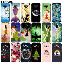 YIMAOC Peter Pan Wendy Tinkerbell Soft Silicone Case for Samsung Galaxy A6 Plus 2018 A3 A5 2016 2017 Black flower Note 9 8 Cover