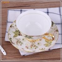 1 personalidad europea tarde taza de té creativo perfumado té de la taza de China de hueso y platillo regalo taza de café para 6ZDZ502