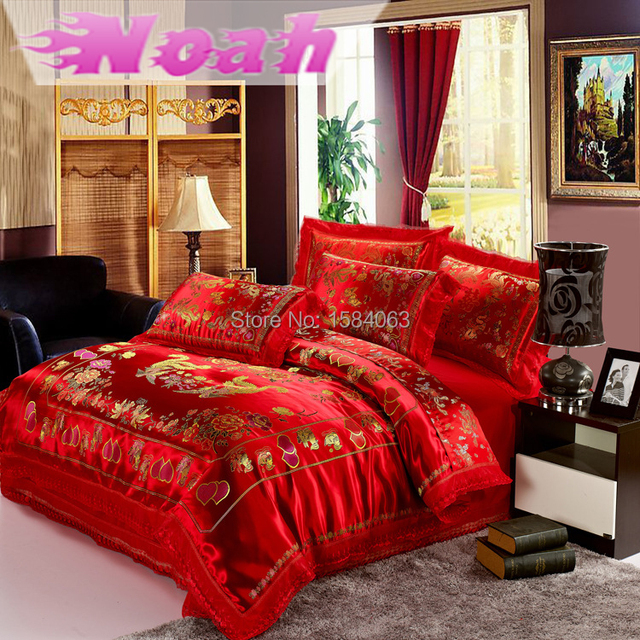 High Quality Brand Bedding Set King Size,Chinese Dragon Comforter Set Duvet Egyptian  Cotton Bed Sheets For