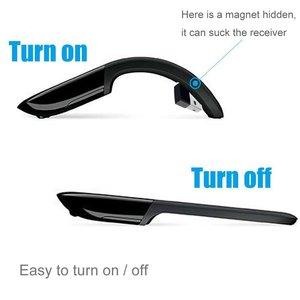Image 5 - Bluetooth Pieghevole Mouse Per Microsoft Arc Touch Mouse Senza Fili Pieghevole 1200 DPI Optical Mouse Da Viaggio Portatile Ultra Sottile Mause