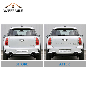 Image 5 - AMBERMILE 3D Metal Letters Stickers Rear Trunk Logo Emblems Car Words Sticker for BMW Mini Cooper Countryman R60 F60 Accessories