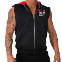 summer Sleeveless Shirts Quick Dry Athletic Fit Outdoor Sports hooded Training Undershirts Running Vests Men Top Male