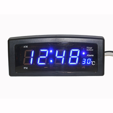 Desktop LED Electronic Alarm Clock Digital Table Clock with Temperature Display Big Numbers Easy to Red for Home Living room