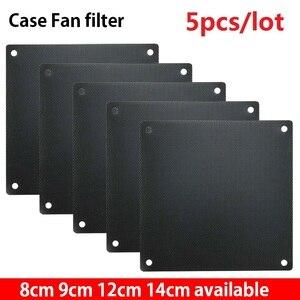 Image 1 - 5pcs 8cm 9cm 12cm 14cm Computer PC Mesh PVC Fan Dust Filter Dustproof Case Computer Mesh Cover Chassis Dust Cover 120mm 80mm