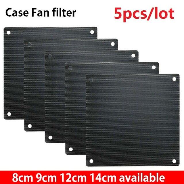 5pcs 8cm 9cm 12cm 14cm Computer PC Mesh PVC Fan Dust Filter Dustproof Case Computer Mesh Cover Chassis Dust Cover 120mm 80mm