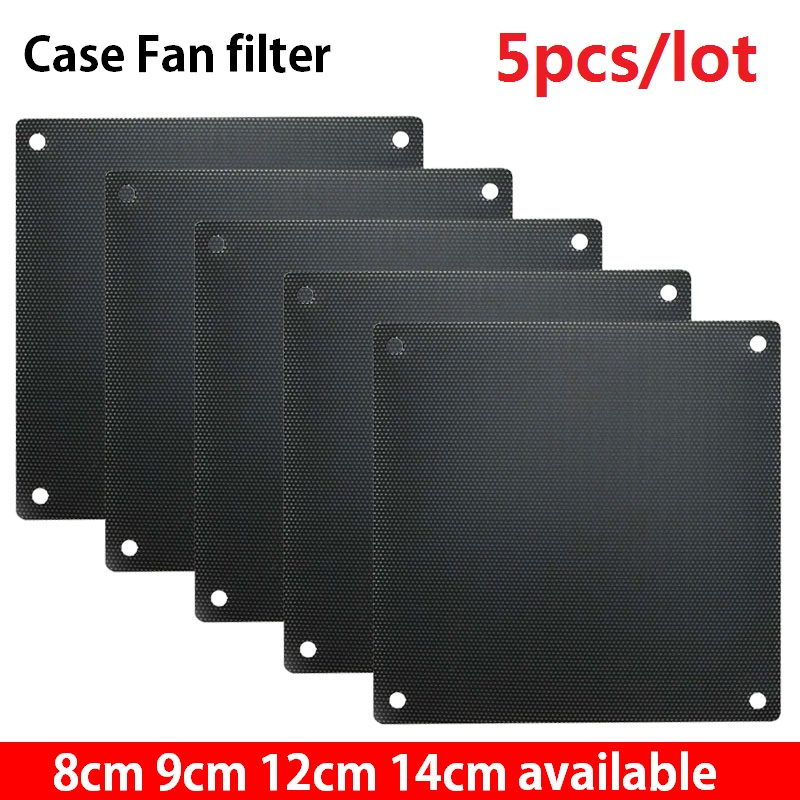 5pcs/lot 8cm 9cm 12cm 14cm Computer Mesh PVC PC Fan Dust Filter Dustproof Case Computer Mesh Cover Chassis Dust Cover 120mm 80mm
