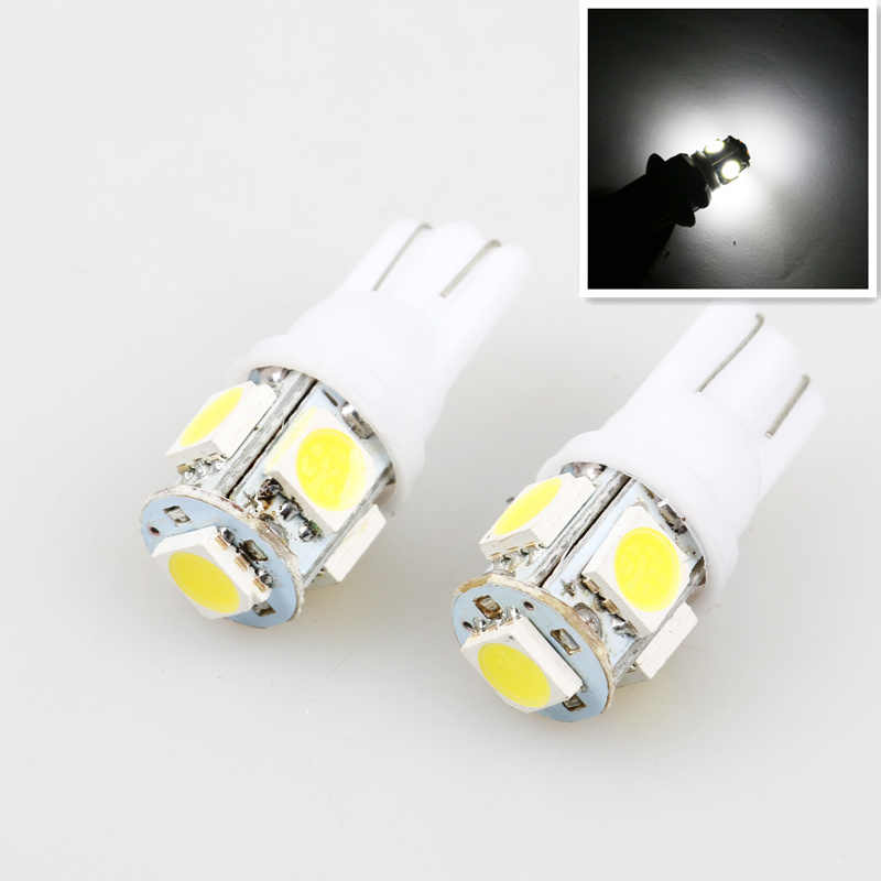 car styling 1PCS Auto T10 5 LED 1W 5050 W5W Wedge Door Parking Bulb Light Car 5W5 LED Dome Festoon C5W C10W License Plate Light