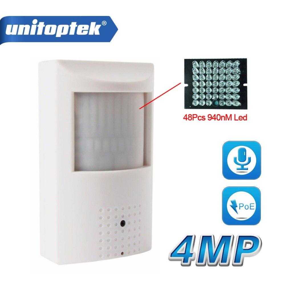 H.265/H.264 HD 4MP Caméra IP PoE PIR Style CCTV de Sécurité Mini 3MP Caméra IP Audio WIFI Onvif + Invisible IR 940nm Nuit Vision