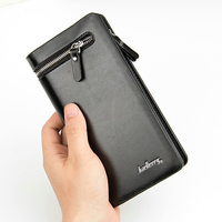 Luxury Europe Style Card Holders Change Wallets New Design Mens Business Clutch Wallet PU Leather Zipper