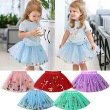 0-3T Newborn Kid Baby Girls Tassels Dance Tutu Skirt Pettiskirt Ballet Flower