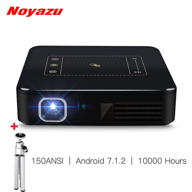Noyazu Mini Projector Full HD Android 7.1 4K Smart TouchPad LED DLP Projetor Portable WIFI Bluetooth 8000mAh Home Theater Beamer original xgimi z4 aurora 4k projector led 3d full hd projetor mini projector portable dlp projector home theater cinema beamer