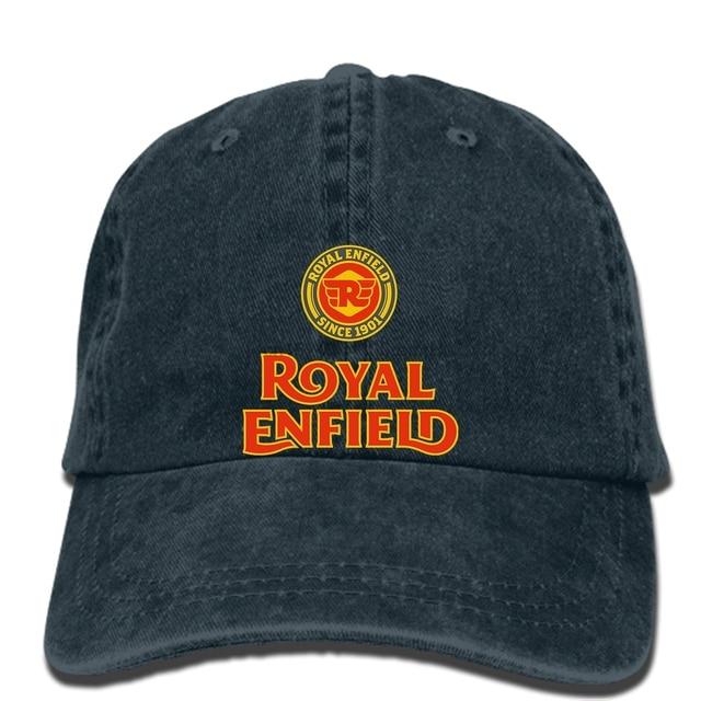 faf157ec39a hip hop Baseball caps Limited Edition Royal Enfield Logo Men Black cap 12
