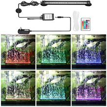 LED Aquarium Light IP68 Waterproof Fish Tank Lights Mutil-Color Air Bu