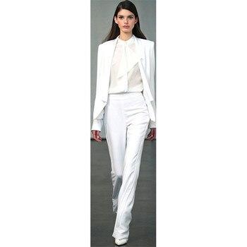 Women's suit two-piece suit (jacket + pants) ladies casual single button suit ladies business formal wear custom